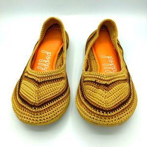 Poppy | Handmade Unique Crochet Slip On Flats